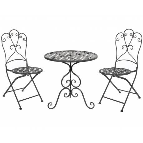 Salon de Jardin Salon de The 2 Places Personnes Table Bistrot et 2 ...