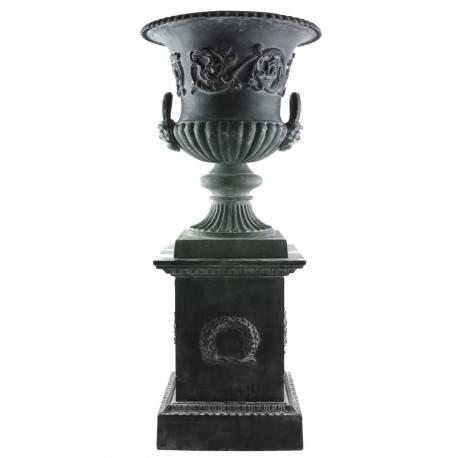 Vasque et socle g ant vase jardini re ext rieur de chateau for Vase solaire exterieur