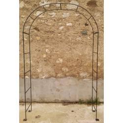 Arche Simple Arche à Fleurs Rosiers Tuteur Plantes de Jardin Passage en Fer Forgé 40x120x239cm