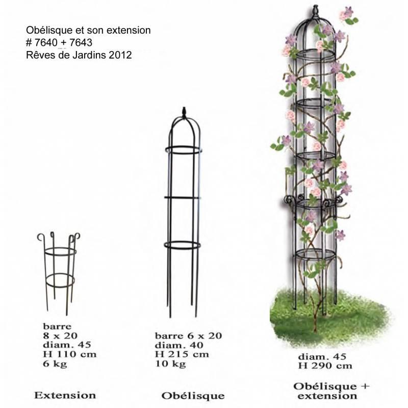 grand ob lisque r ves de jardins jardini re porte rosier buis topiaire en fer forg gris. Black Bedroom Furniture Sets. Home Design Ideas
