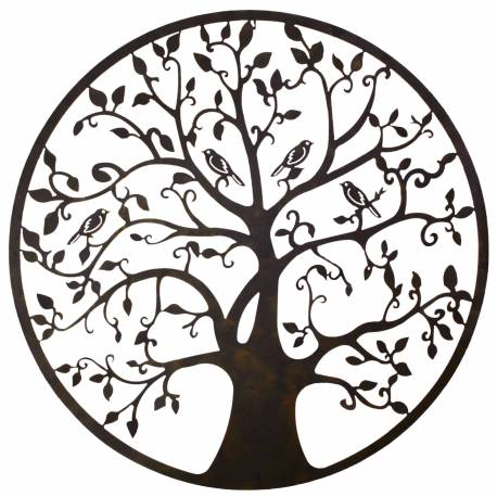 grande applique murale fronton style arbre de vie d coratif fixer en fer patin marron noir 1. Black Bedroom Furniture Sets. Home Design Ideas