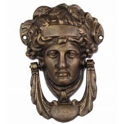 Heurtoir de Porte ou Claque Porte Style Femme Déesse Grecque en Fonte Patinée Bronze 5x13x18cm