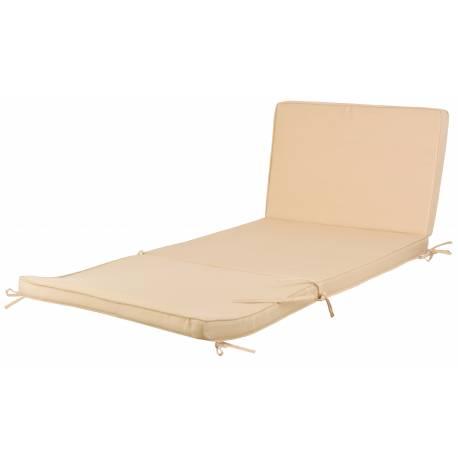 coussin pour bain de soleil transat chaise longue ou tapis de sol en polyester de couleur ecru 6. Black Bedroom Furniture Sets. Home Design Ideas
