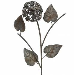 Branche d'Hydrangea Décoration Florale pour Jardin Massif ou Pot de Fleur en Métal 14x37x110cm