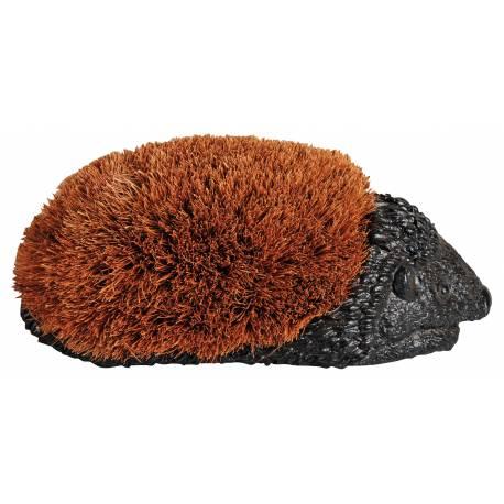 Brosse ou Gratte Pieds Chaussures en Résine en Forme de Hérisson de Couleur noire et Fibre de Coco 11x14x26.5cm