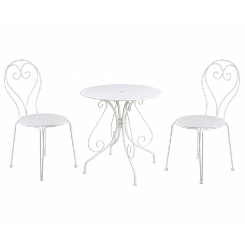 salon de jardin pour 2 personnes table bistrot et 2 chaises salon de th 2 places en fer patin. Black Bedroom Furniture Sets. Home Design Ideas