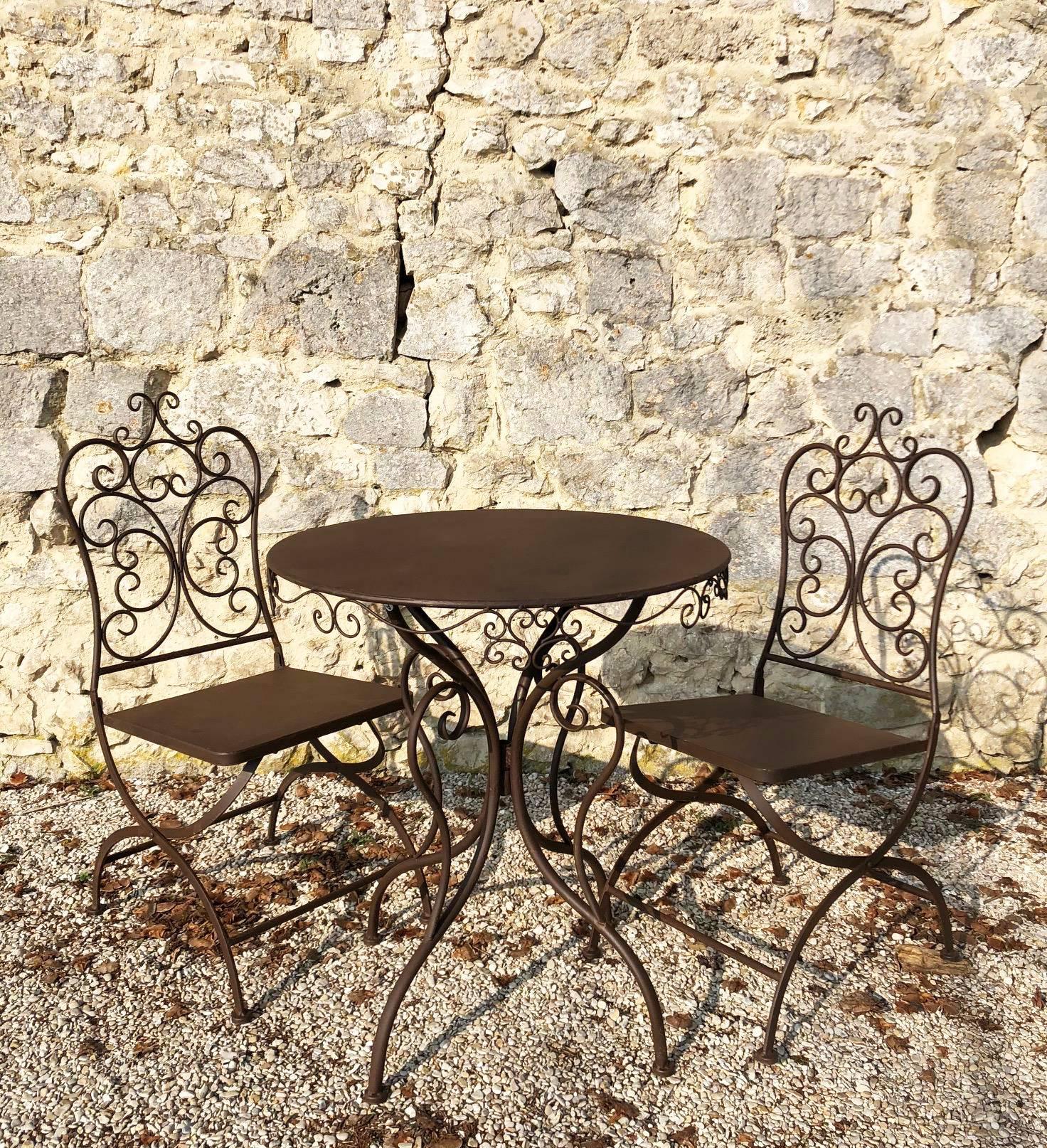 Salon de Jardin Suzette 2 Personnes Salon de The Rond ...