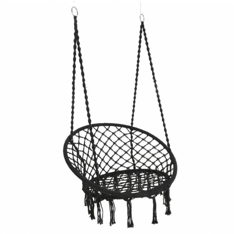 fauteuil suspendu coton noir si ge suspendre chaise. Black Bedroom Furniture Sets. Home Design Ideas