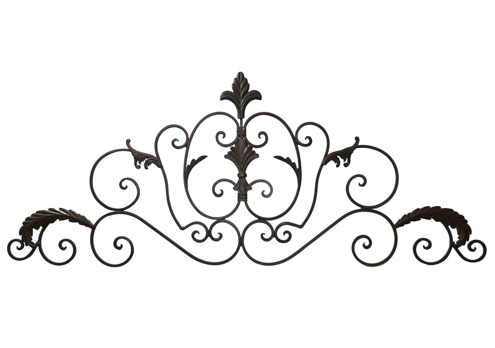 Applique décorative style baroque fronton mural ou dessus de porte