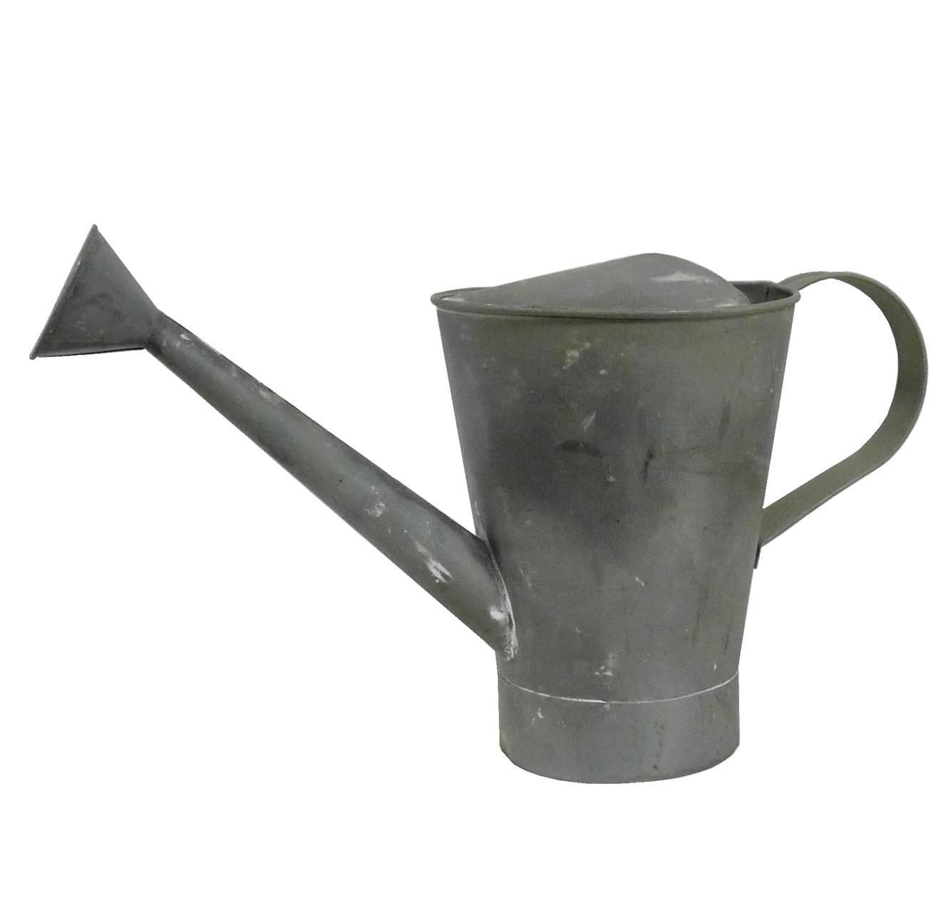 Arrosoir Etanche Ou Broc Décoratif Façon Zinc En Fer Patiné Gris 16 5x22 5x40cm