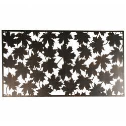 Grande Applique Décoration Murale Fronton Motifs Feuilles en Métal 1,5x60x120cm