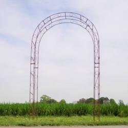 Sublime Arche Simple Tuteur Arc à Rosiers Passage de Jardin en Acier Oxydé 32x140x236cm