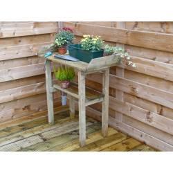 Table de Rempotage Etabli de Jardin Table de Préparation en Bois Autoclave III 40x80x85cm
